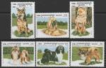 Камбоджа 1999 год. Породы собак, 6 марок