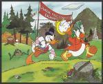 Монголия 1987 год. Мультфильмы Уолта Диснея. Дональд Дак, блок