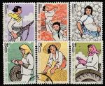 Китай 1964 год. Девочки и женщины в коммуне, 6 марок (гашёные)