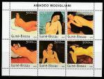 Гвинея-Бисау 2003 год. Картины итальянского художника Амедео Модильяни. малый лист