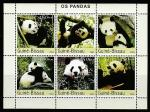Гвинея-Бисау 2003 год. Панда, малый лист