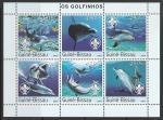 Гвинея-Бисау 2003 год. Дельфины, малый лист