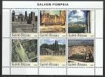 Гвинея-Бисау 2003 год. Древнеримский город Помпеи, малый лист
