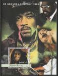 Гвинея-Бисау 2003 год. Ямайский музыкант Боб Марли. блок