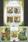 Нигер 2015 год. Динозавры (I), малый лист + блок