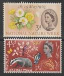 Великобритания 1963 год. Национальная неделя природы, 2 марки