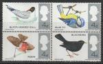 Великобритания 1966 год. Местные птицы, квартблок