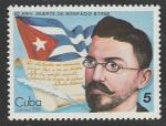 Куба 1986 год. 50 лет со дня смерти писателя Бонифасио Бирне, 1 марка