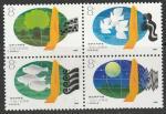 Китай 1988 год. Охрана окружающей среды, квартблок