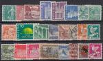 Набор иностранных марок. Швейцария, 24 гашеных марки