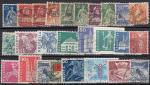 Набор иностранных марок. Швейцария, 26 гашеных марок