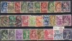 Набор иностранных марок. Швейцария, 29 гашеных марок