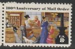США 1972 год. 100 лет доставке почты. Сельское почтовое отделение, 1 марка