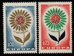 Монако 1964 год. Европа. Стилизованный цветок с лепестками вокруг эмблемы СЕРТ, 2 марки.