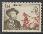 Монако 1964 год. Нобелевский лауреат по литературе Фредерик Мистраль, 1 марка.