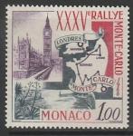 Монако 1966 год. XXXV Ралли Монте-Карло, 1 марка.