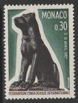 Монако 1967 год. Международный кинологический конгресс, 1 марка