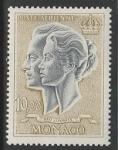 Монако 1967 год. Князь Ренье и принцесса Грейс, 1 марка.