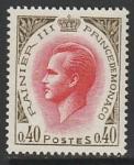 Монако 1969 год. Князь Ренье III, 1 марка
