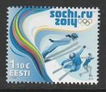 Эстония 2014 год. XXII зимние Олимпийские игры в Сочи, 1 марка
