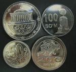 Набор монет, Узбекистан, 2018 год, 4 монеты