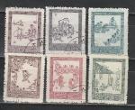 Корейская Живопись, КНДР 1965 год, 6 гашёных марок