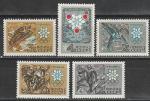 СССР 1967 год, К Олимпиаде в Гренобле, серия 5 марок
