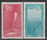 ГДР 1958 год, Международный Геофизический Год, 2 марки