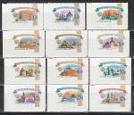 Россия 2009 год, Стандарт, Кремли, серия 12 марок.