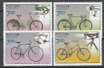 Россия 2008 год, Велосипеды, серия 4 марки.