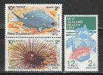 Новая Зеландия 1979, Морская Фауна, 3 марки + м.лист