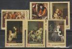 СССР 1974, Зарубежная Живопись, серия 6 марок