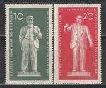 ГДР 1960 год, Памятники, Ленин, Тельман, 2 марки