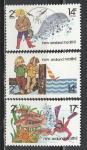 Новая Зеландия 1980, Рыбалка, 3 марки*