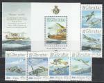 Гибралтар 2008 год, 90 лет Королевских ВВС, 6 марок+блок.