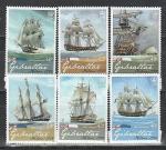 Гибралтар 2008 год, Адмирал Нельсон, 6 марок+блок. (нар)