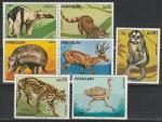 Фауна, Парагвай 1972 год, 7 марок