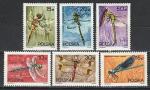 Стрекозы, Польша 1988 год, 6 марок. (н