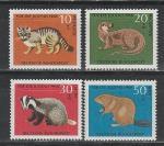 Фауна, ФРГ 1968 год, 4 марки