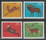Фауна, Олени, ФРГ 1966 год, 4 марки