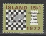 Исландия 1972 г, Шахматы, 1 марка.