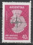 Аргентина 1958 год, Международный Геофиз. Год, 1 марка