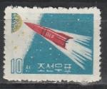 """""""Венера-1"""", КНДР 1961 год, 1 марка. (запущена 12. 2. 1961)"""