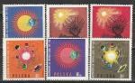 Международный Год Спокойного Солнца, Польша 1965 год, 6 марок