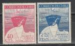 Чили 1947 год, Антарктида, 2 марки