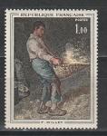 Франция 1971 год. Искусство. Картина Жана-Франсуа Милле. 1 марка