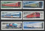 Железнодорожный Транспорт, ГДР 1973 год, 6 марок