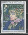 Франция 1965 год. Англичанка. Картина Анри де Тулуз-Лотрека. 1 марка