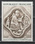Франция 1969 год. Искусство. Фреска, лепнина. 1 марка.