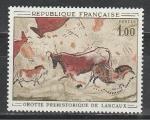 Искусство, Наскальная Живопись, Франция 1968 год, 1 марка